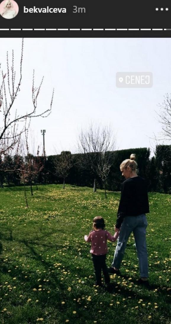 Nataša Bekvalac i ćerka