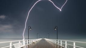 Wyjątkowa fotografia podczas burzy nad gdyńskim Orłowem