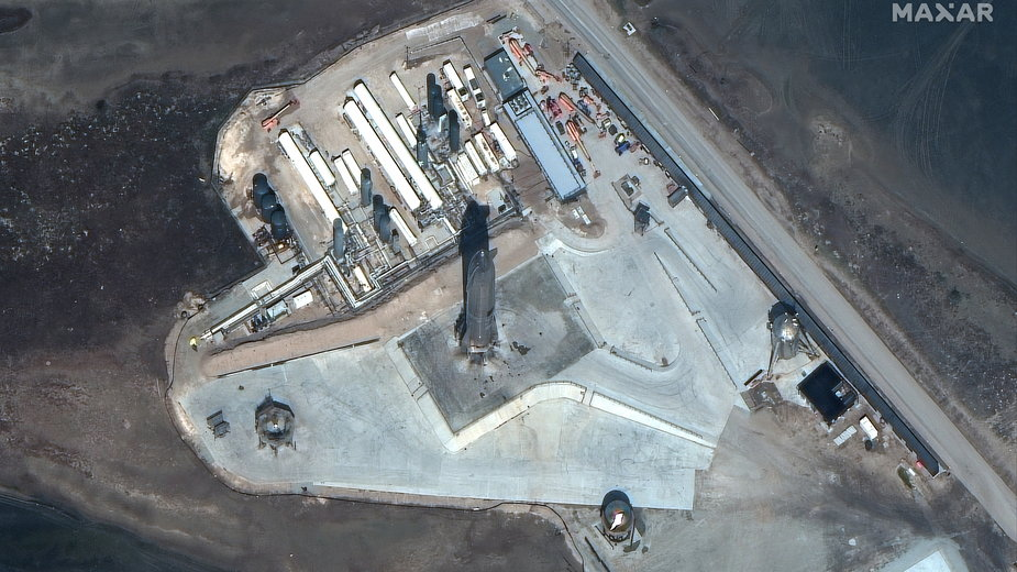 Zdjęcie satelitarne rakiety SpaceX