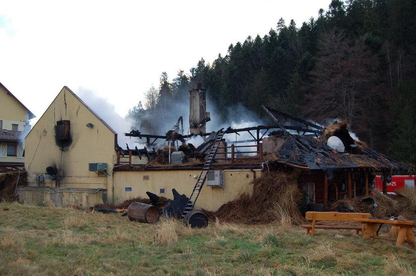 Pożar Gospody Polskiej w Szczyrku