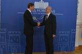 Gradonačelnik Novog Sada Miloš Vučević i šef Delegacije EU u Srbiji Oskar Benedikt