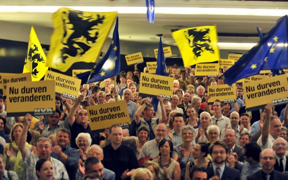Simpatizeri flamanskih separatista slave trijumf svoje stranke