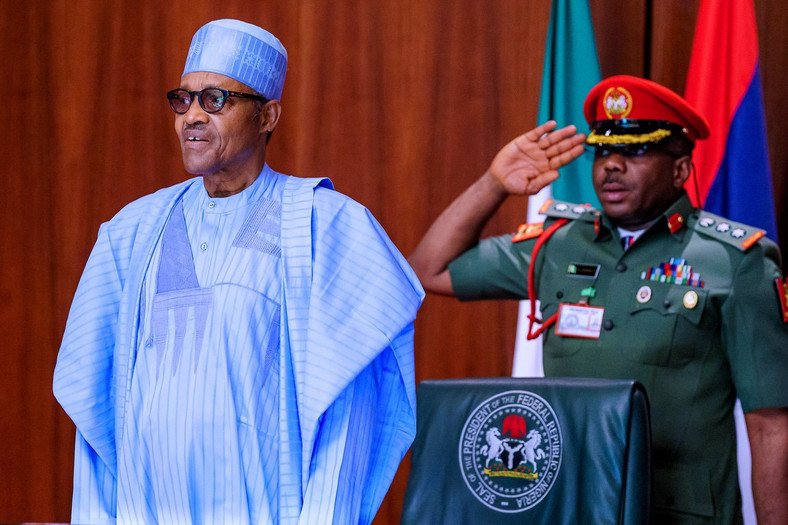 President Muhammadu Buhari announced the lockdown of Lagos, Ogun and Abuja on Sunday, March 29, 2020. [Twitter/@BashirAhmaad]