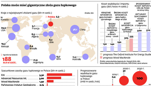 Polska może mieć gigantyczne złoża gazu łupkowego