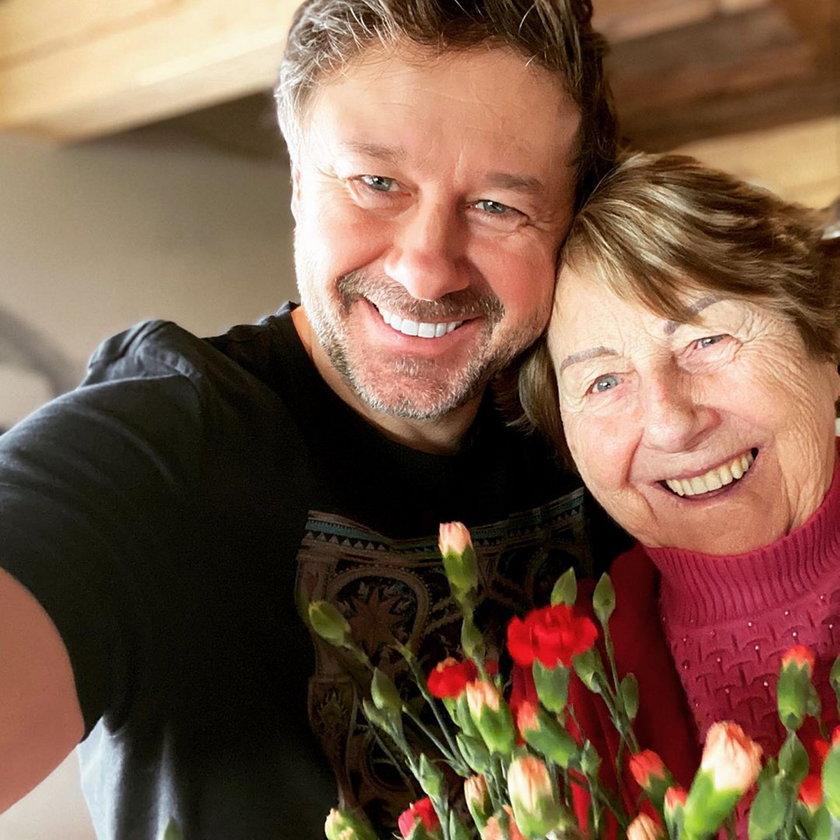 Andrzej Piaseczny z mamą