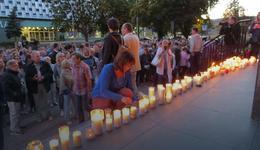 """Protesty """"światła"""" w Białymstoku i w Augustowie"""