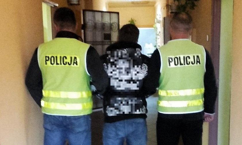 Cmentarny złodziej w rękach policjantów