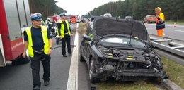 Groźny wypadek na A4. Czworo młodych ludzi w szpitalu