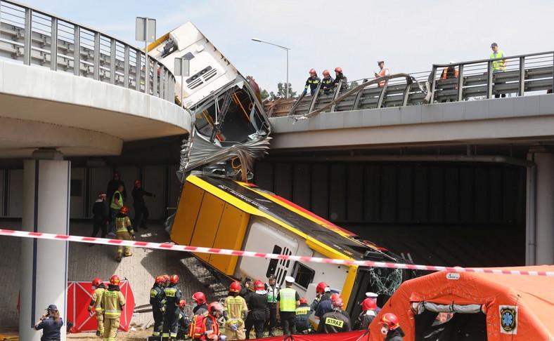 Wypadek na trasie S8 w Warszawie