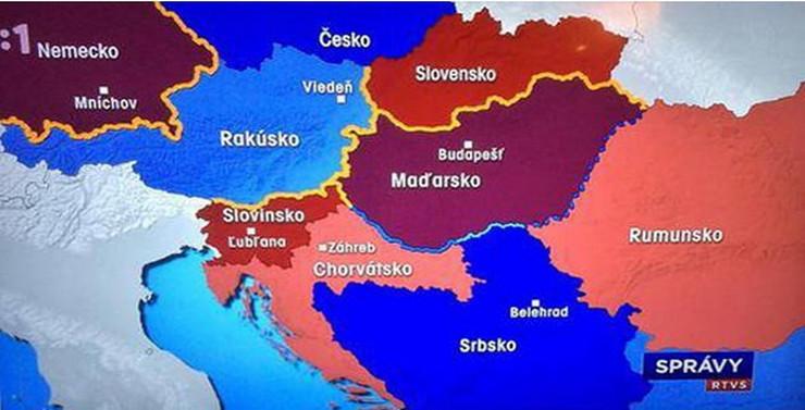 slovacka mapa GAF SLOVAČKE TELEVIZIJE Bosna i Hercegovina je teritorija Srbije slovacka mapa