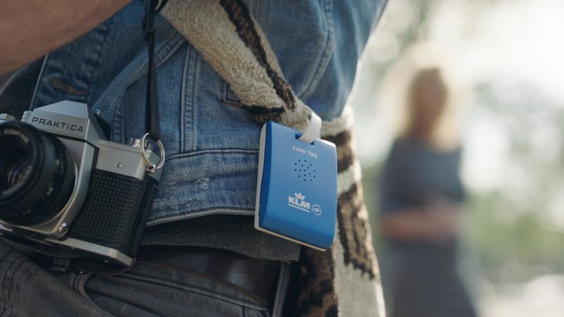 Plecak z KLM Care Tag