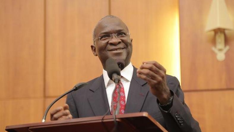 Babatunde Fashola at ministerial screening on Wednesday, October 14, 2015