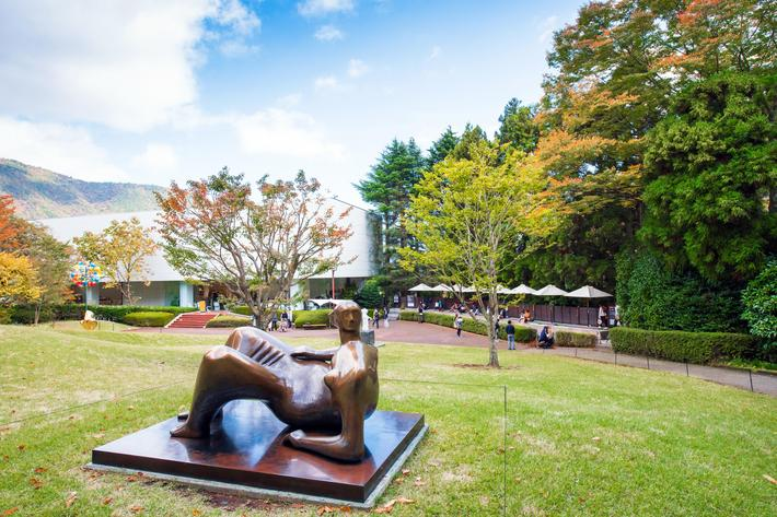 HAKONE, JAPAN - NOVEMBER 5, 2017: Sculpture in the open air museum. Copy space for text
