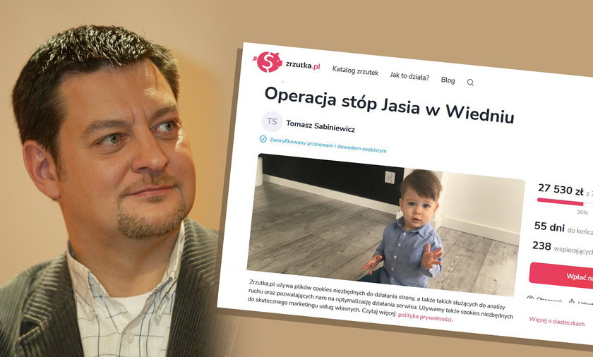 Zbiórka pieniędzy na leczenie wnuka Mariusza Sabiniewicza