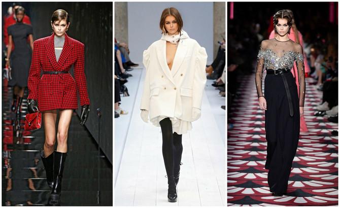 Kaja Gerber na Nedeljama mode