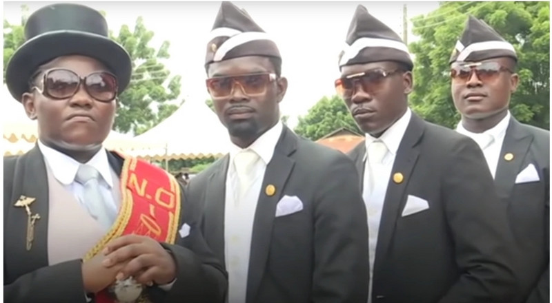 Trump shared a video of the Ghanaian dancing pallbearers and they believe that is the ultimate endorsement