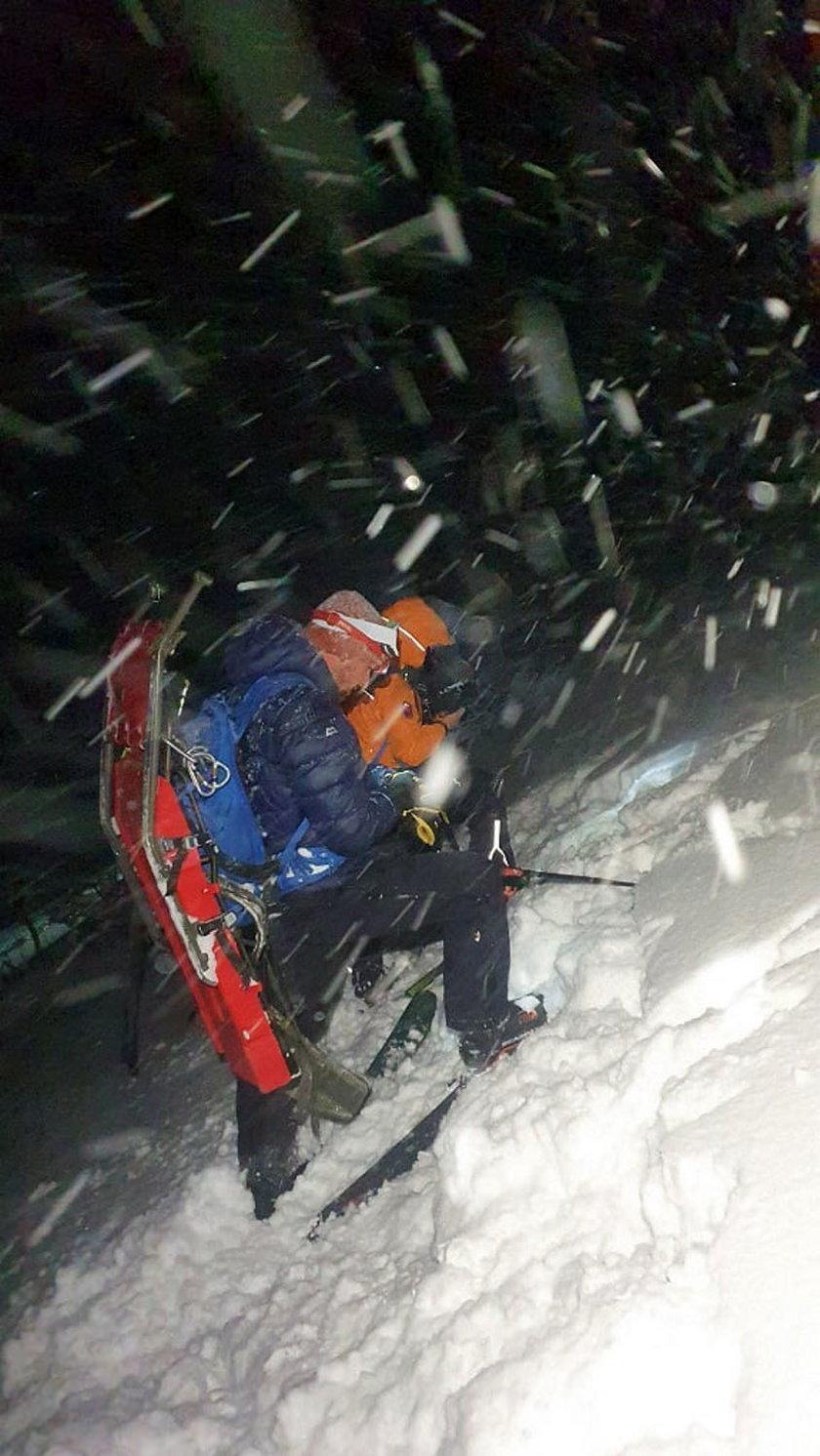 Lawina w Tatrach porwała narciarzy