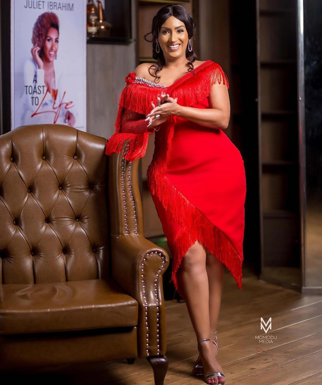 The actress with roots from Ghana, Liberia, and Lebanon is probably the most successful actress from Ghana. [Instagram/JulietIbrahim]