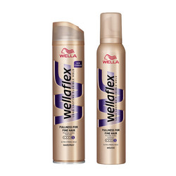 Wellaflex Fullness for fine hair lakier i pianka