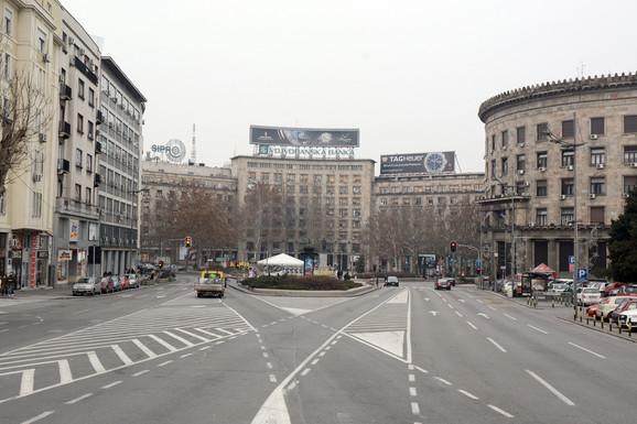 Trg Nikole Pašića biće potpuno zatvoren za saobraćaj u nedelju od sedam do 15 sati
