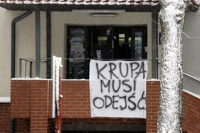 Protest w obronie Szpitala w Murckach