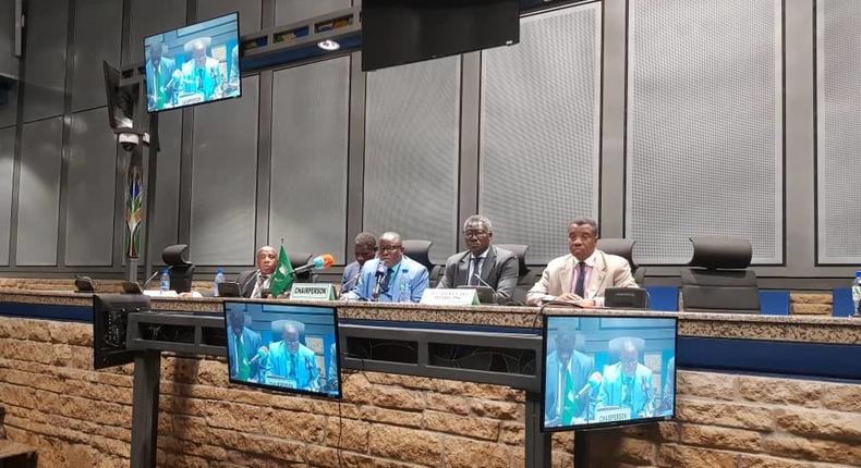 AU Peace and Security Council's 854th meeting held on 6 June 2019, on the situation in The Sudan (Twitter/African Union Peace)