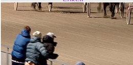 +18 Seks dwóch facetów przy -12 st. C na wyścigach