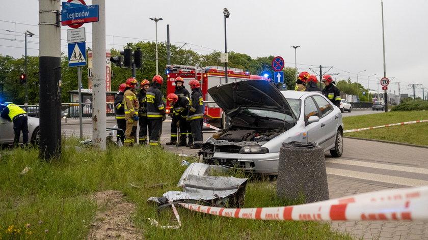 Wypadek na Włókniarzy przy Legionów w Łodzi