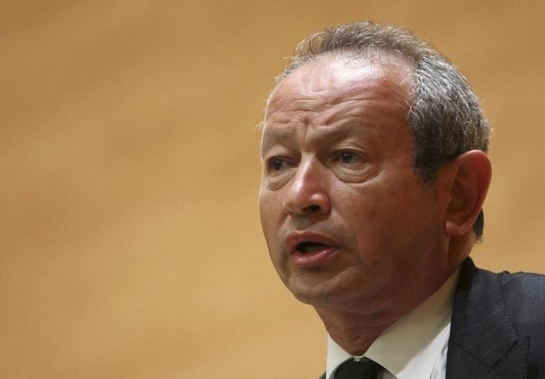 Orascom Telecom chairman Naguib Sawiris speaks during a conference in Beirut June 2, 2010. Picture taken June 2, 2010.