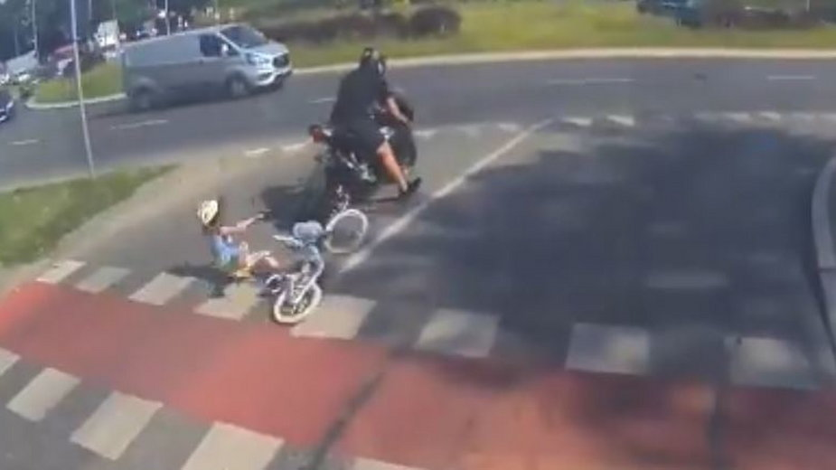 Motocyklista w Olsztynie