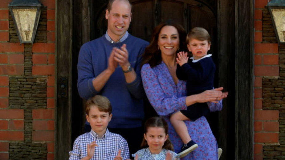 Kate i William z dziećmi: Georgem, Charlotte i Louisem