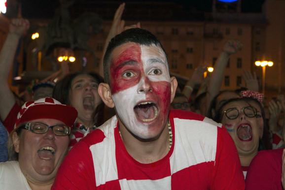 Radost navijača u Zagrebu tokom polufinala Mundijala