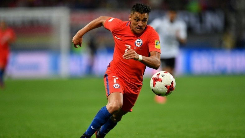 Chile's forward Alexis Sanchez runs with the ball during the 2017 Confederations Cup group B football match against Germany June 22, 2017