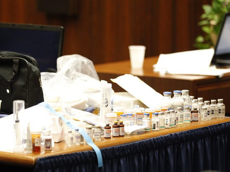Leki znalezione w domu Michaela Jacksona