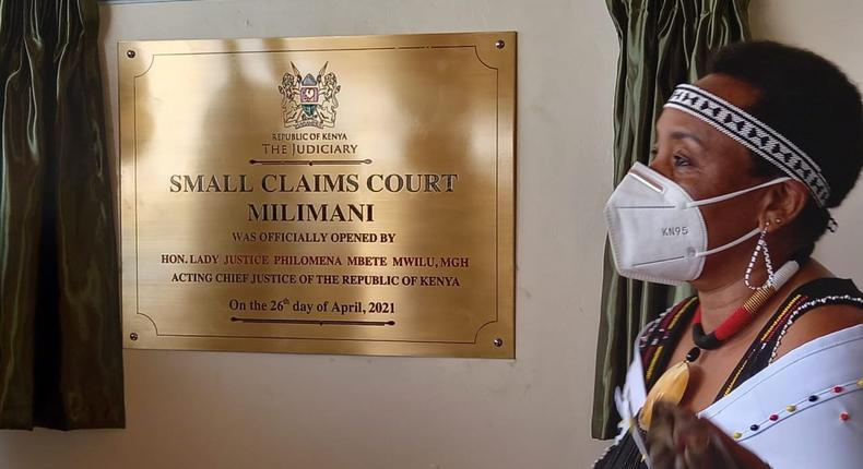 Acting CJ Philomena Mwilu launches Small Claims Court at Milimani Law Courts