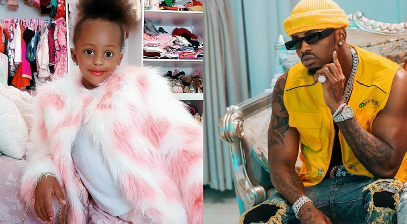 Princess Tiffah excites Netizens as she gushes over her father Diamond Platnumz (Video)