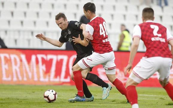 Đorđe Ivanović na utakmici protiv Napretka