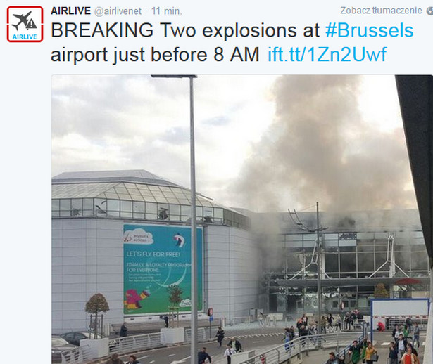 Wybuch na lotnisku w Brukseli