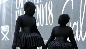 Daughters of Nana Akua Addo shows up in Ninja style for Glitz Fashion Week (PHOTOS)