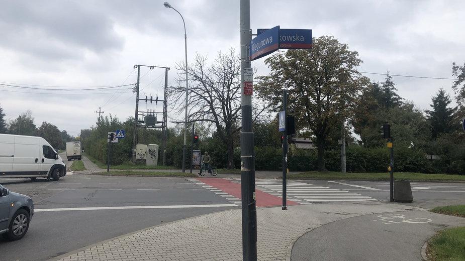 Skrzyżowanie Krakowskiej i Biegunowej w Łodzi