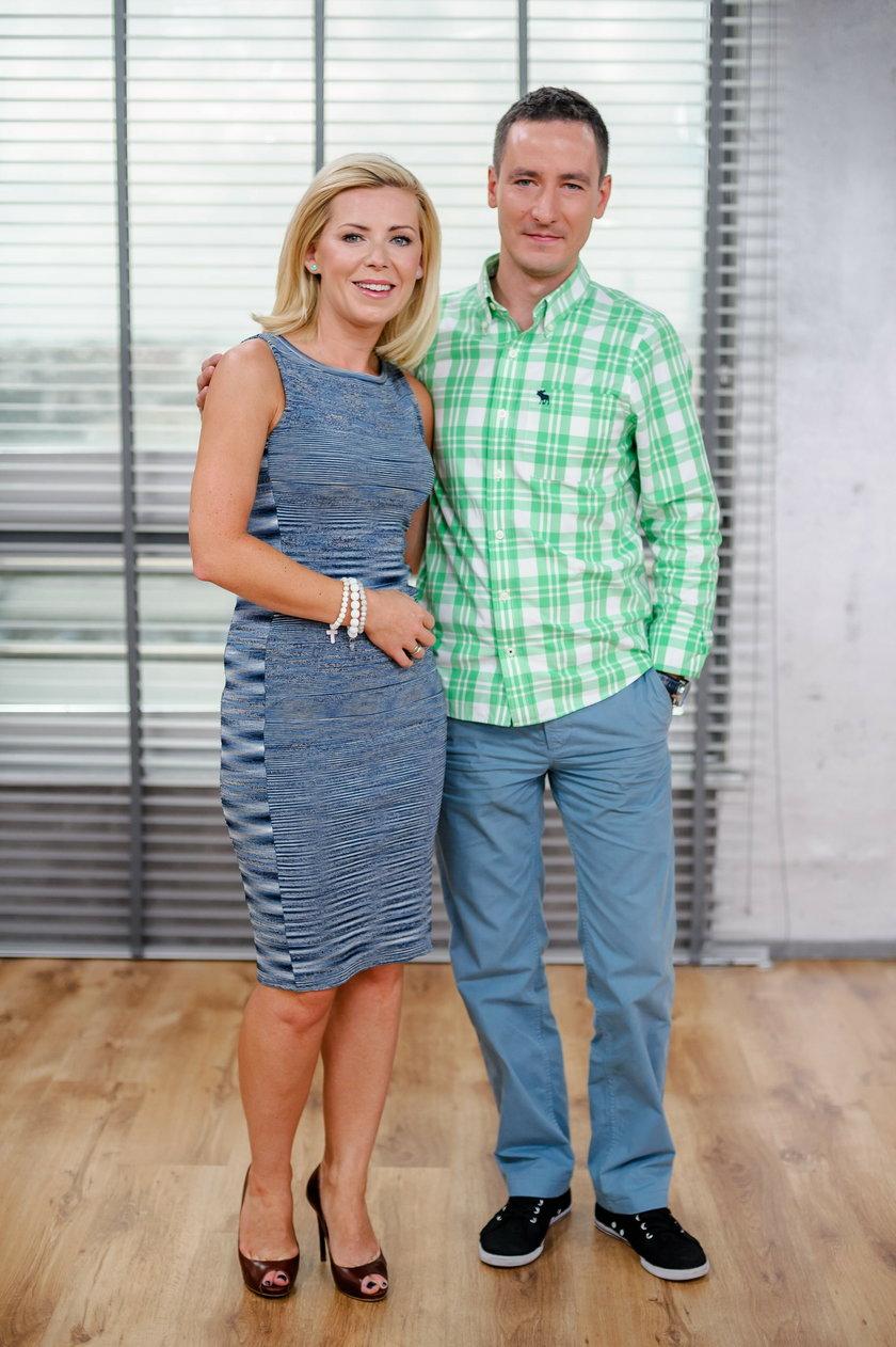 Joanna Kryńska z mężem