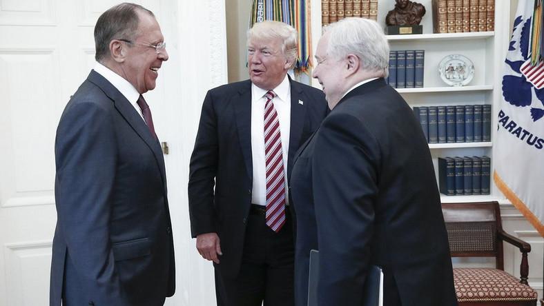 Siergiej Ławrow, Donald Trump i ambasador Rosji w USA Sergiej Kislak