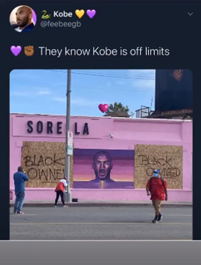 Niko nije dirao mural Kobija Brajanta