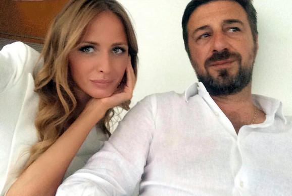 Sanja Papić sa ubijenim Mišom Ognjanovićem