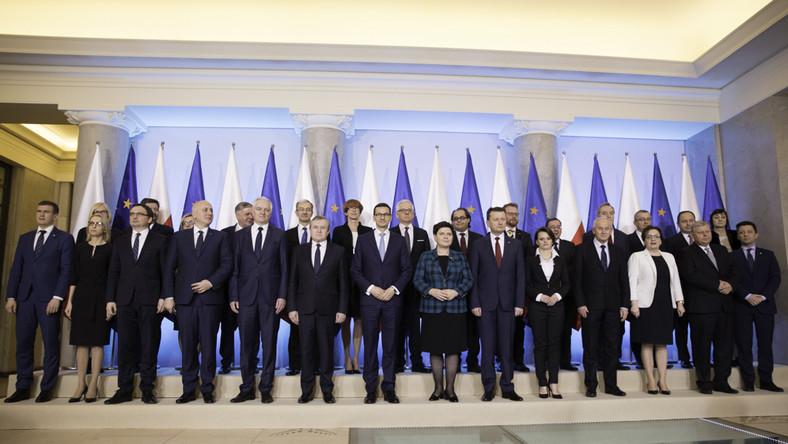 Rząd Mateusza Morawieckiego. Fot. KPRM