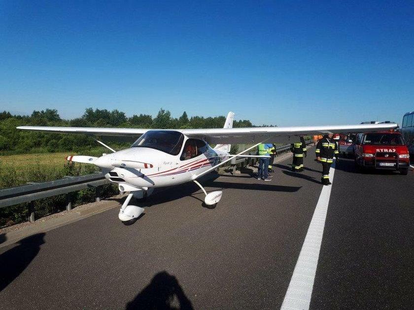 Awaryjne lądowanie awionetki na autostradzie A4 pod Rzeszowem