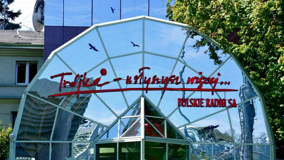 Polskie Radio Program III w Warszawie - siedziba radiowej Trójki przy Myśliwieckiej