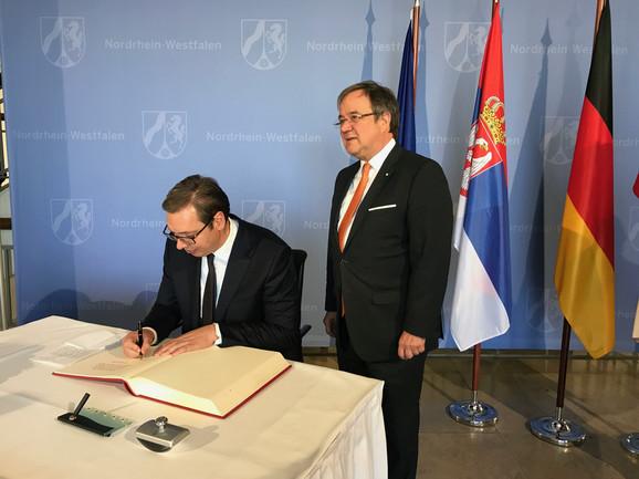 Aleksandar Vučić i Armin Lašet