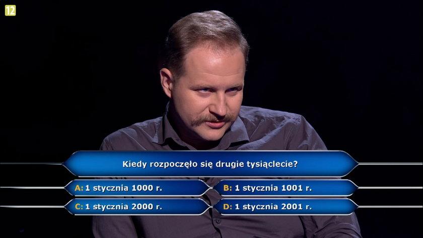 Jacek Iwaszko usłyszał pytanie za milion