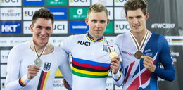 Polski kolarz został mistrzem świata! Ale to wykonanie hymnu...